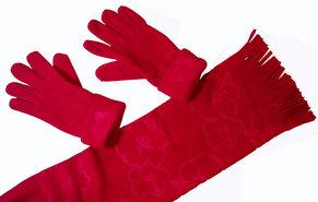 Sjaal-met-Handschoenen-(rood)