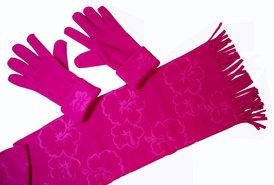 Cadriano-Fleece-sjaal-met-handschoenen-(roze)
