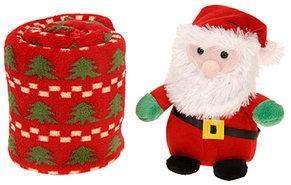 Kerstman-met-fleece-deken