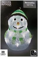 Sneeuwpop-24-cm-20-led-lampjes-met-timer-(groen)
