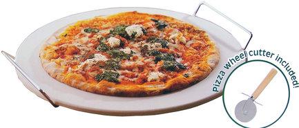 Pizza-baksteen-met-houder-en-pizzasnijder