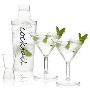 Cocktailshaker-2-Glazen-en-een-Barmaatje-(kunststof)