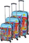 Kofferset-Trolleyset-ABS-Wereld-(3-delig)