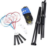 Badmintonset-met-4-Rackets-3-Shuttles-en-Inclusief-Net