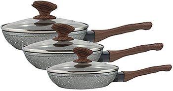 Koekenpannen-met-Glazen-Deksel-(set-van-3-stuks)