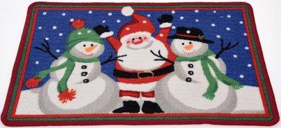 Deurmat-Kerst-(kerstman-en-2-sneeuwpoppen)