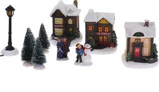 Kersttafereel-(kerstdorpje-met-verlichting)