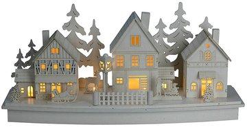 Kerstdorp-Wit-met-Verlichting-(hout)