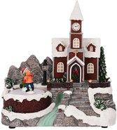 Kersttafereel-(kerk-met-beweging-en-verlichting)