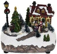 Kersttafereel-(huis-met-lantaarn)