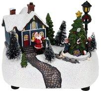 Kersttafereel-(huis-met-kerstboom-en-lantaarn)