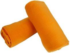 Fleecedeken-Oranje-(2-stuks)